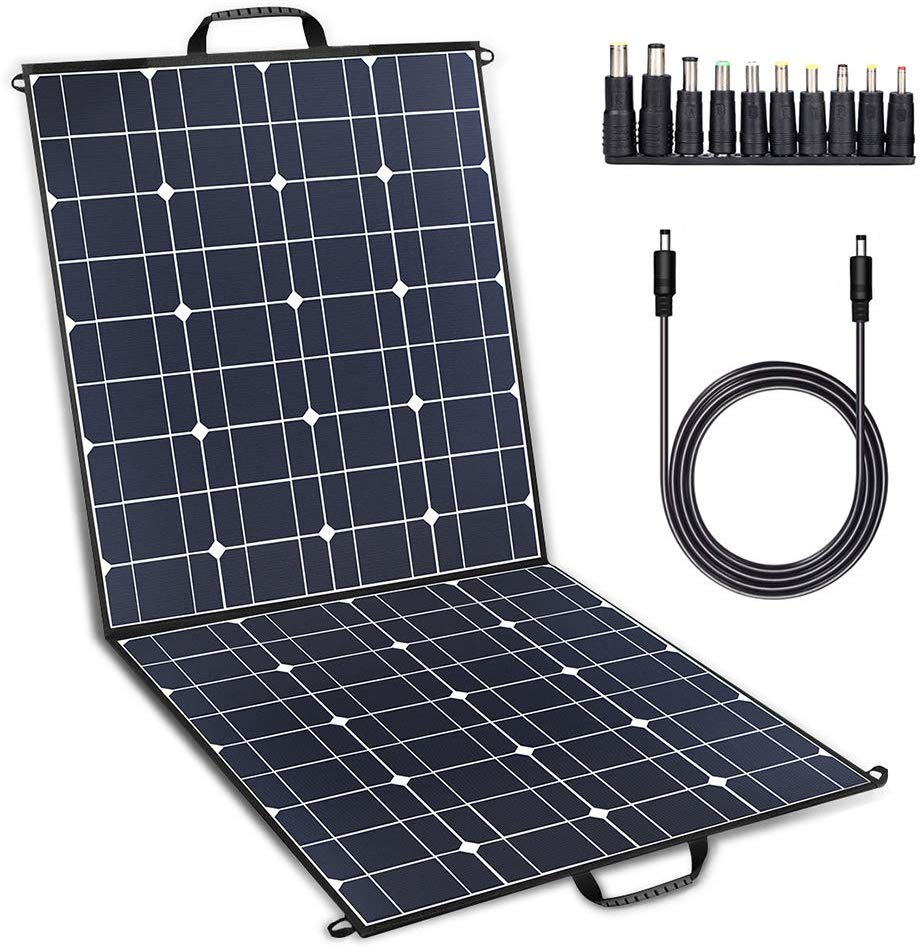 TWELSEAVAN 100W Solar Panel Foldable