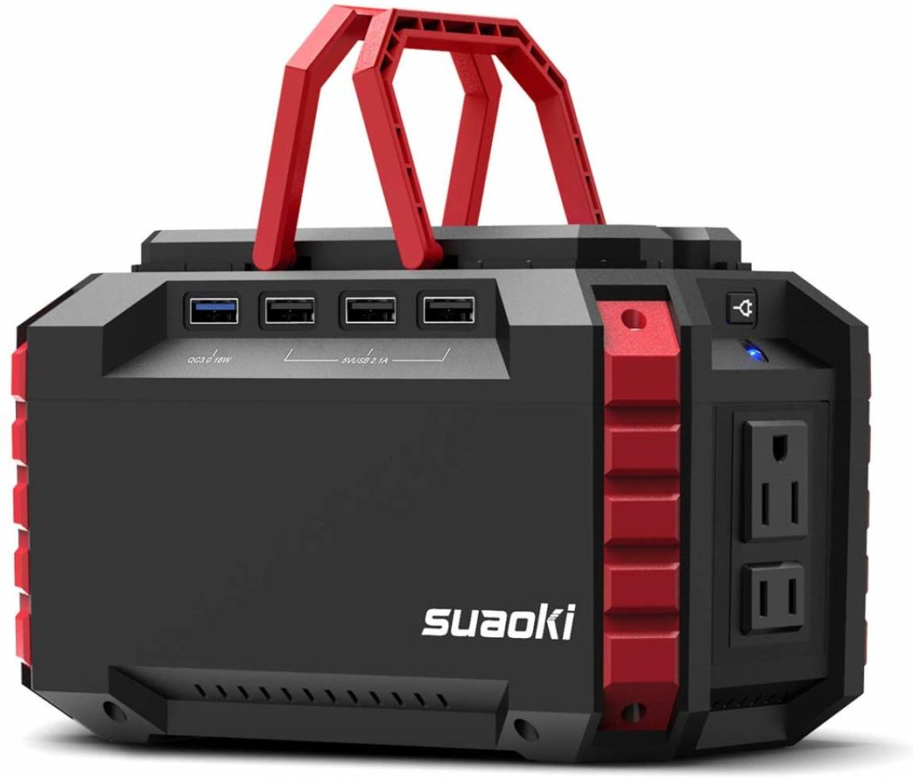 SUAOKI Portable Power Station, 150Wh/100W Camping